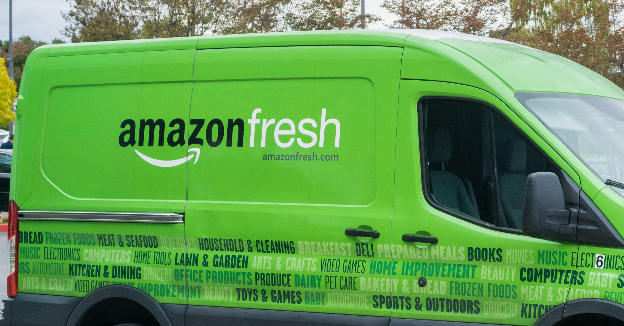 Amazon Fresh van
